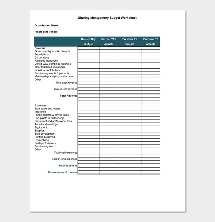 Nonprofit Budget Template