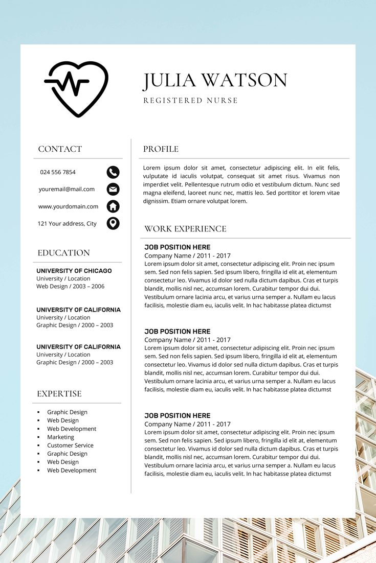 Nurse Resume Template Free