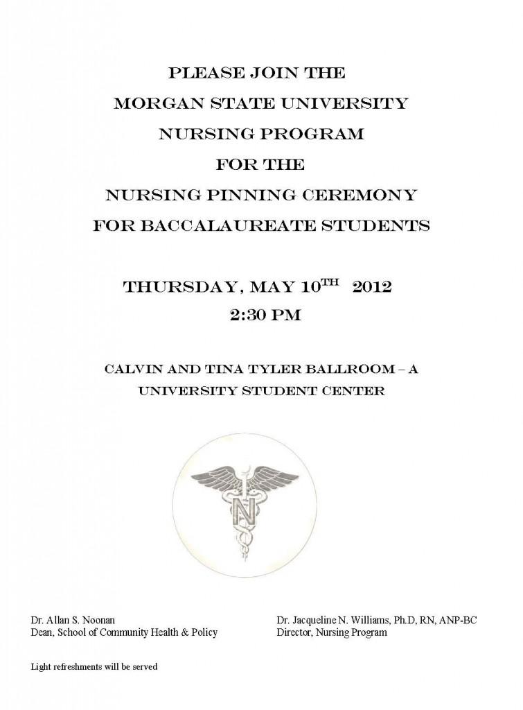 Nursing Pinning Ceremony Program Template