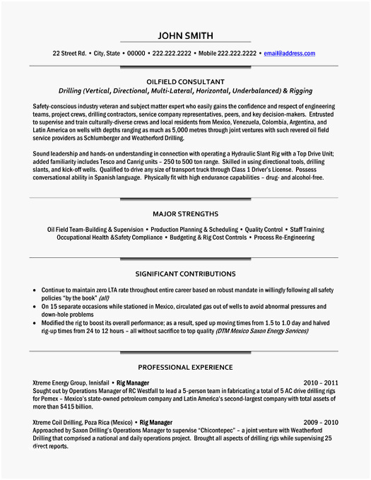 Oil Field Resume Examples Most Useful Top Oil & Gas Resume Templates & Samples