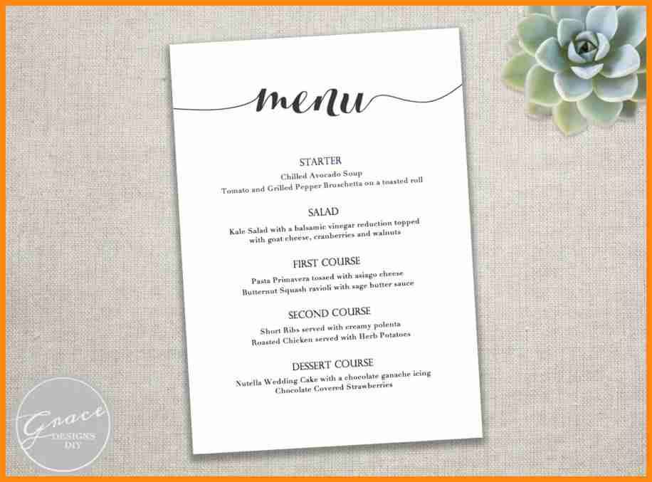 Party Menu Template Free