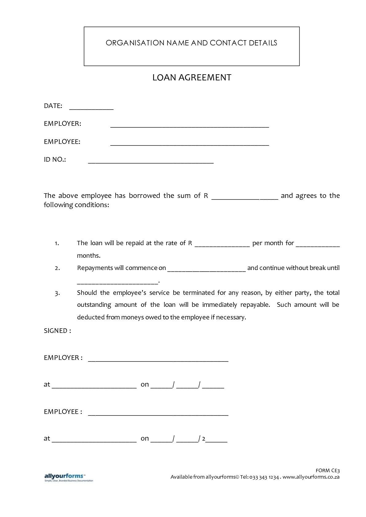 Personal Loan Agreement Template Malaysia