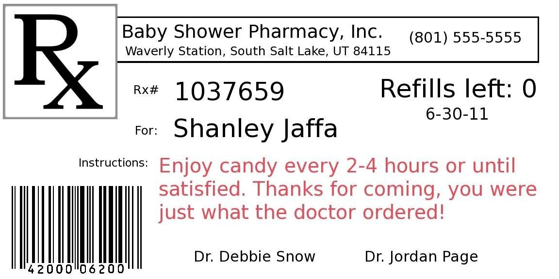Prescription Label Template Word