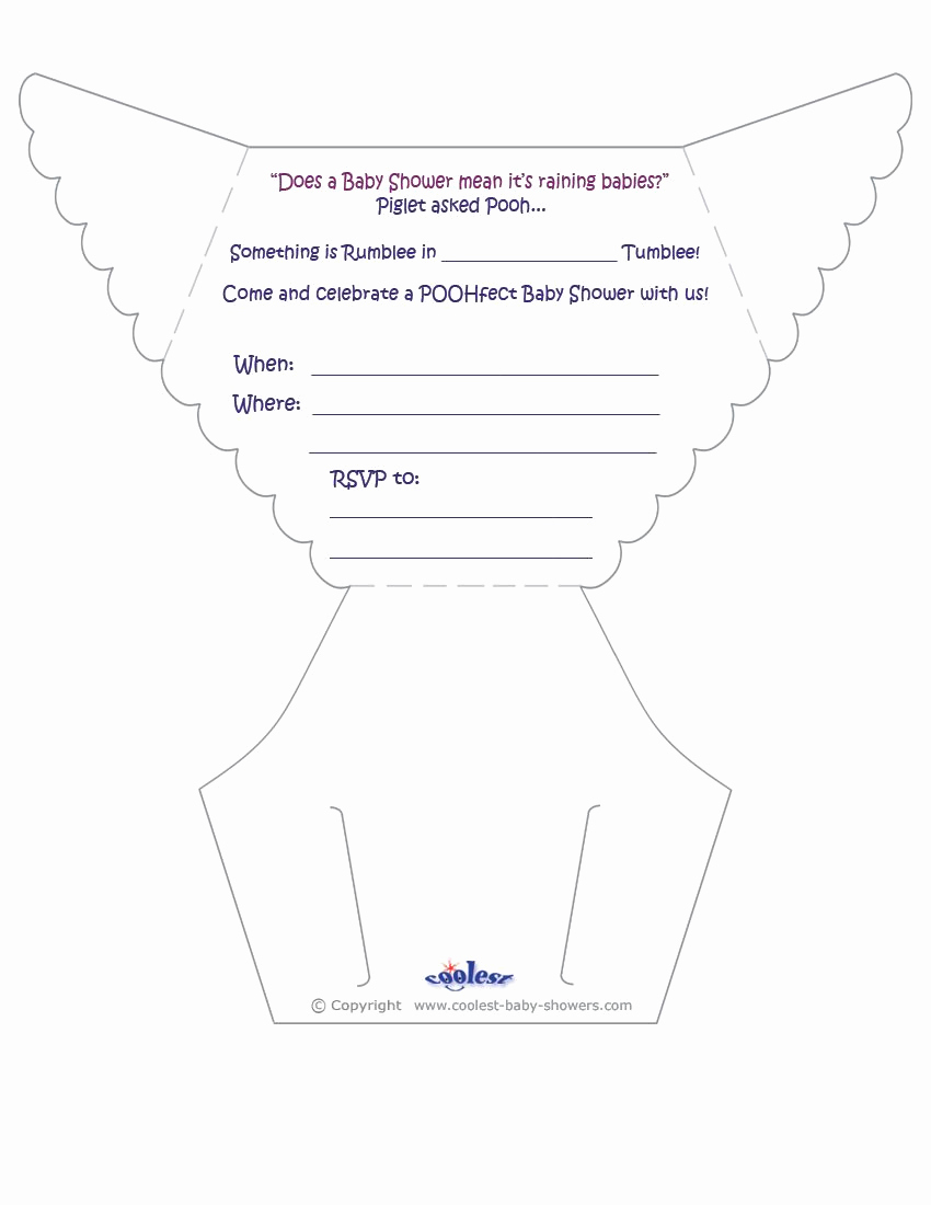 Free Printable Diaper Invitation Template Of Printable Pooh Diaper Invitations Coolest Free
