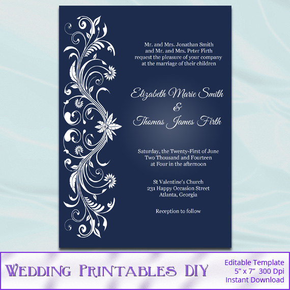 Printable Editable Invitation Templates