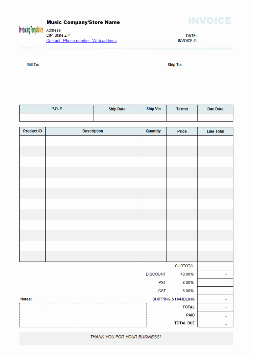 Printable Invoice Templates Of Best S Of Editable Invoice Template Pdf Download