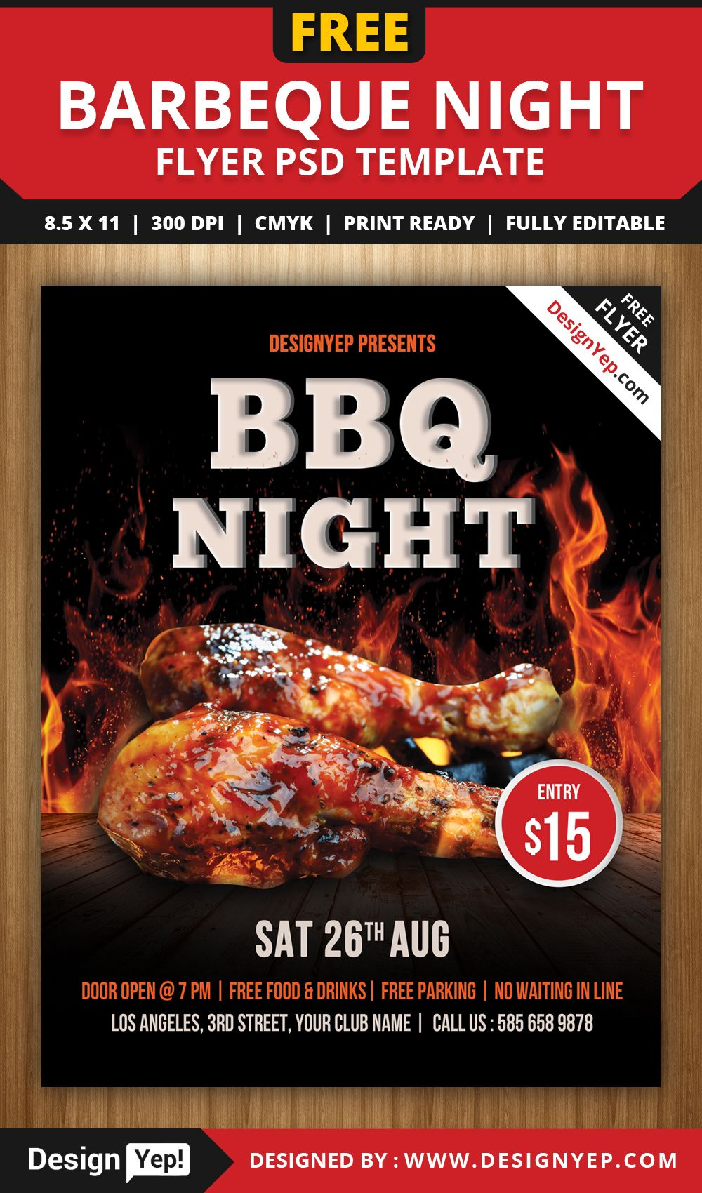 Printable Free Bbq Flyer Template