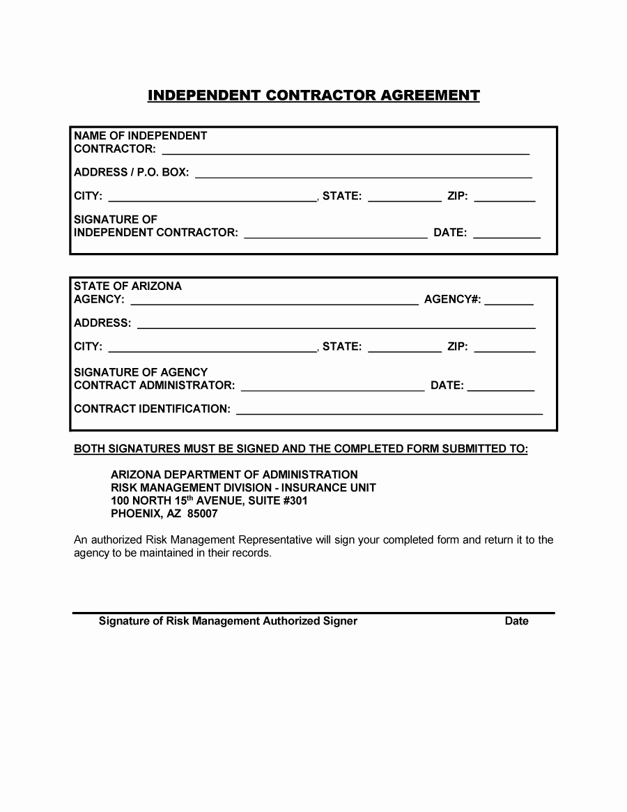 Printable Contract Template Then 50 Free Independent Contractor Agreement Forms & Templates