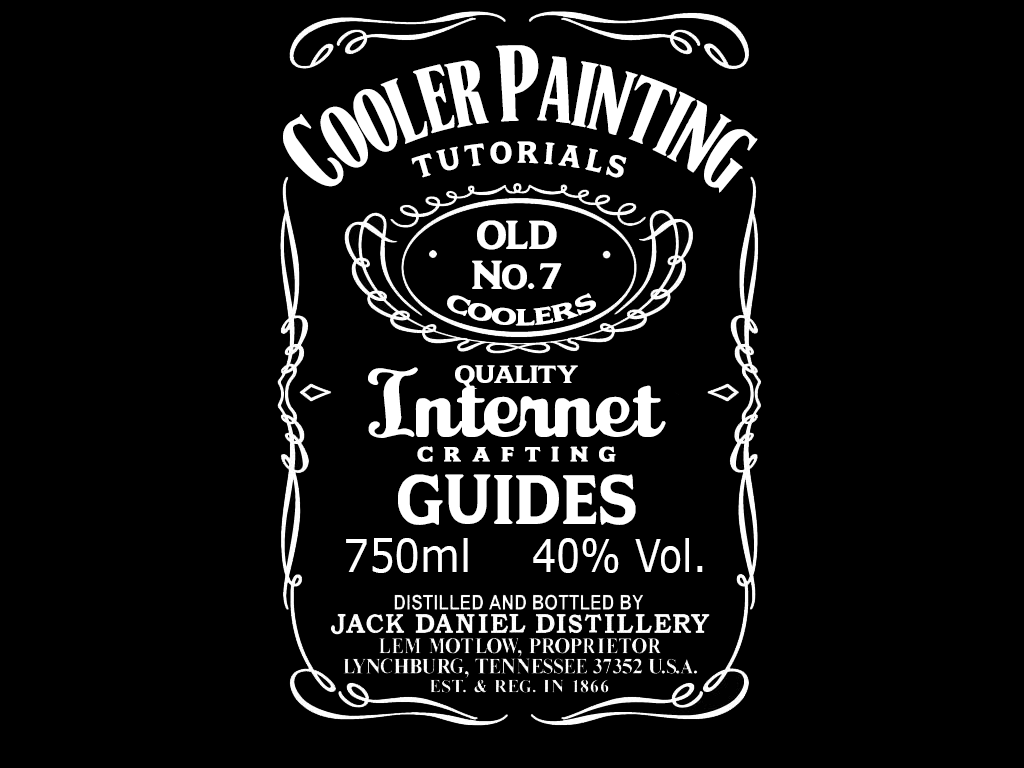 Printable Jack Daniels Label Template