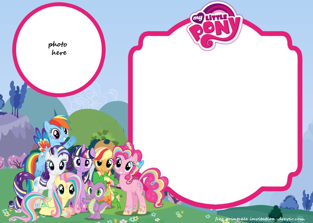 Printable My Little Pony Invitation Template