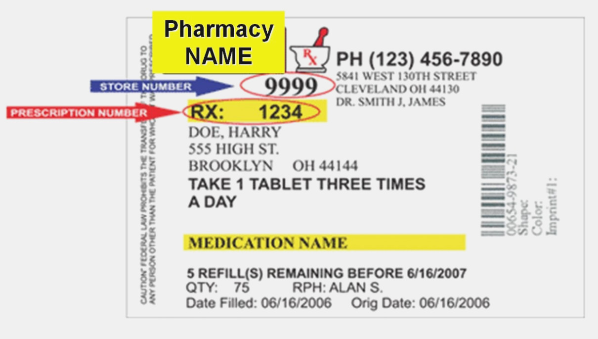 Printable Prescription Label Template