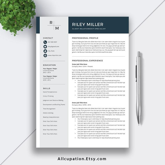 Professional Resume Template 2019