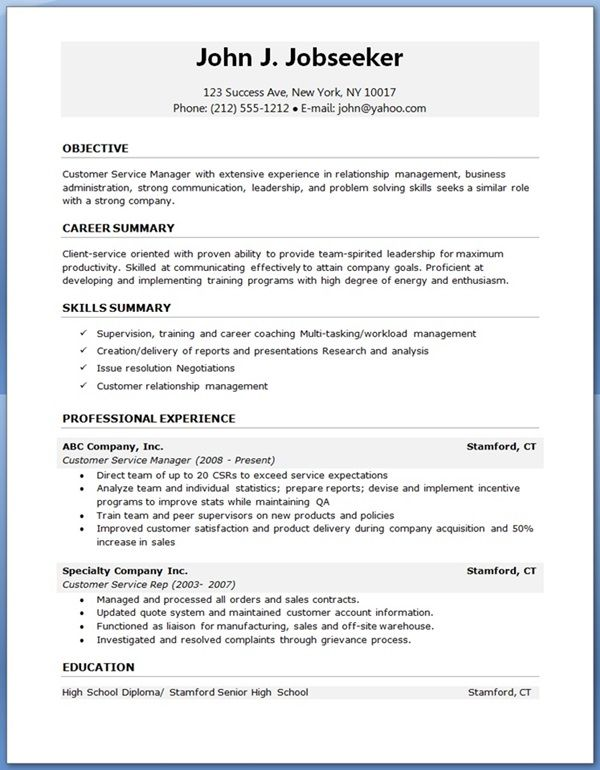 Professional Resume Template Resume Examples