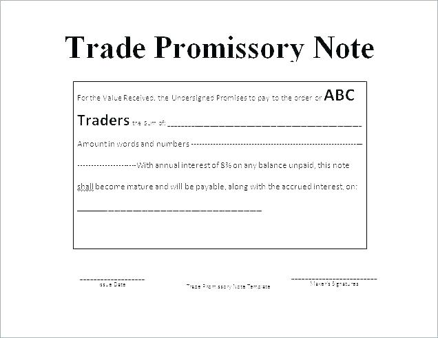 Promissory Note Template Word Doc