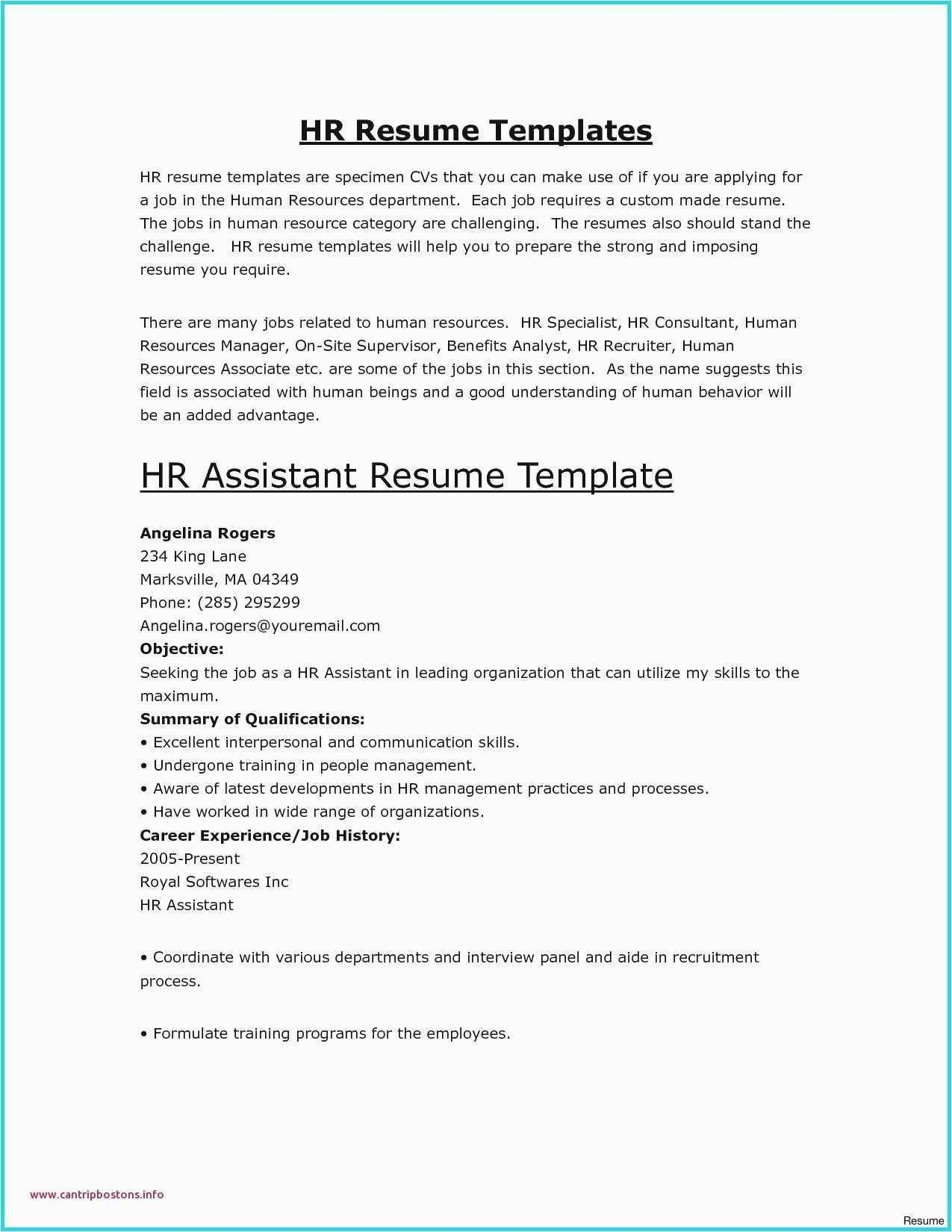 Basic Sample Resume Template New 27 Basic Resume Builder Model
