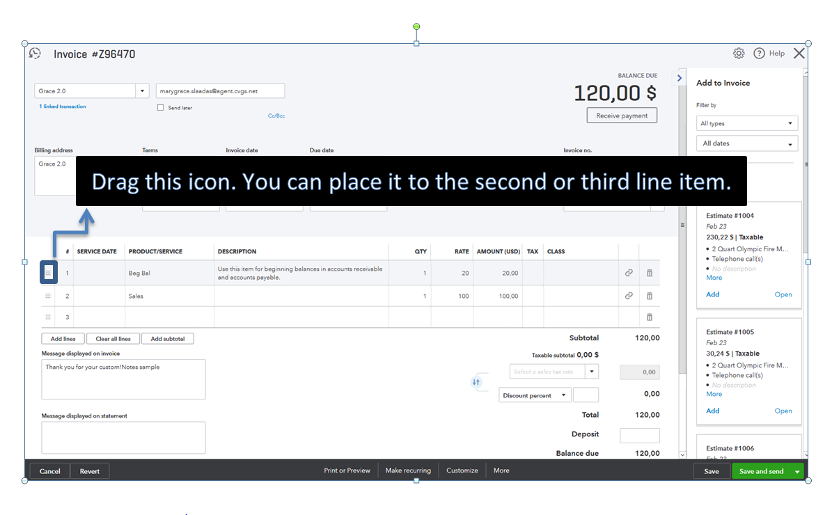 Quickbooks Online Invoice Templates
