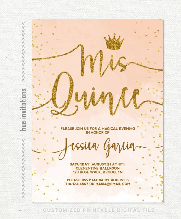 Quinceanera Invitation Blank Templates