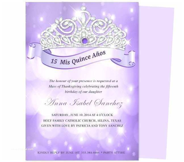 Quinceanera Invitation Templates Free Download