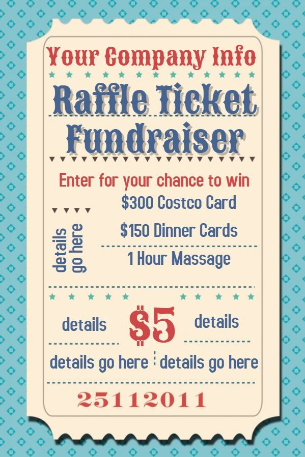 Raffle Ticket Flyer Free Template