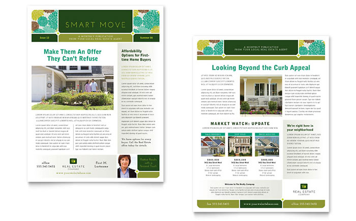 Real Estate Newsletter Templates