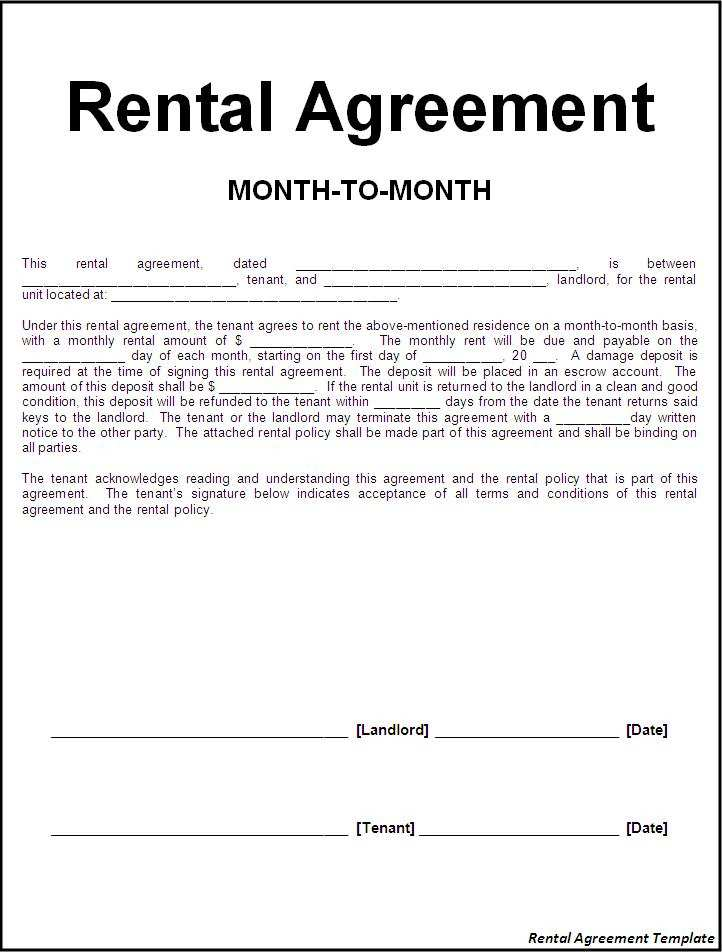 Basic Residential Lease Agreement South Africa 22013 Rental Agreement Template Word Excel Formats