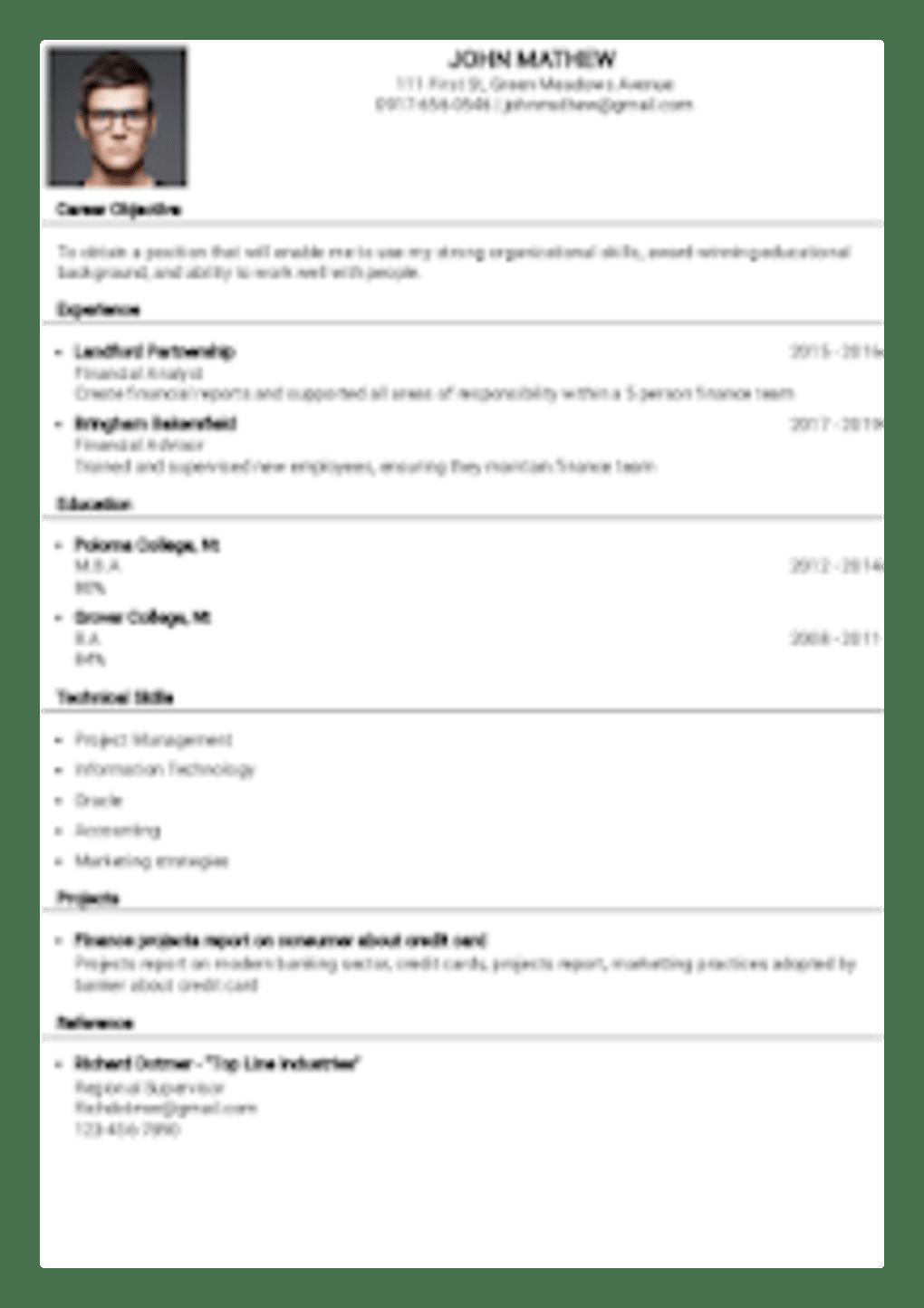 Resume Builder For Free Download