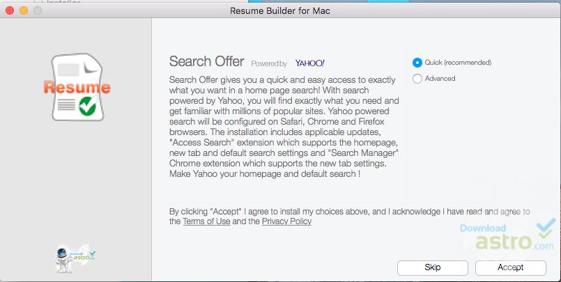 Resume Builder For Mac