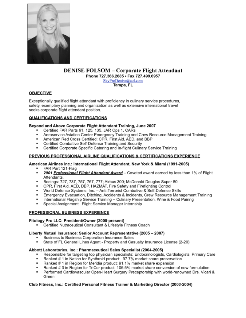 Resume For Aviation Job