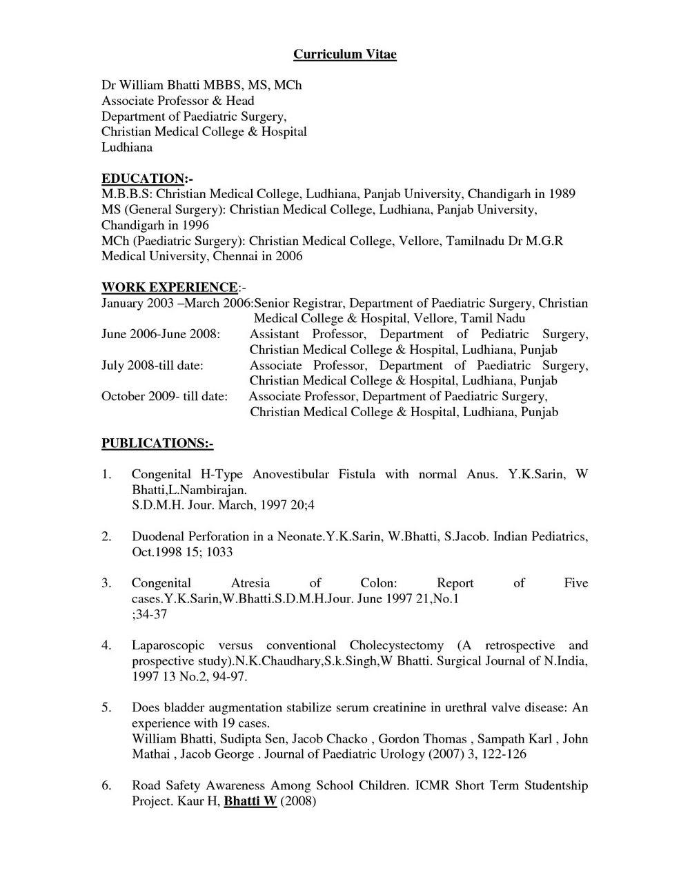 Resume Format For Lecturer Free Download