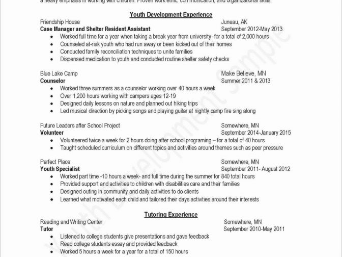 Resume Setup On Word