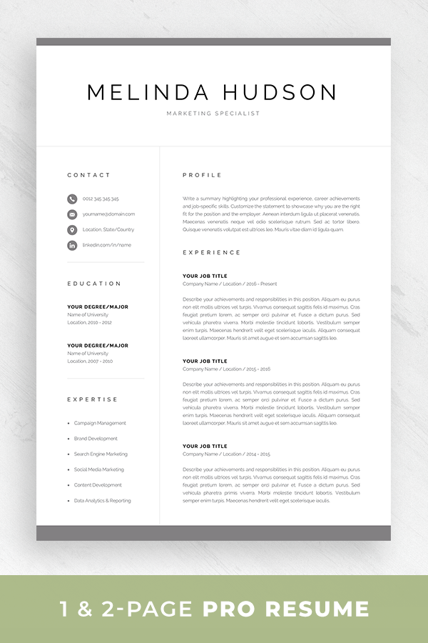 Resume Template For Mac Pages