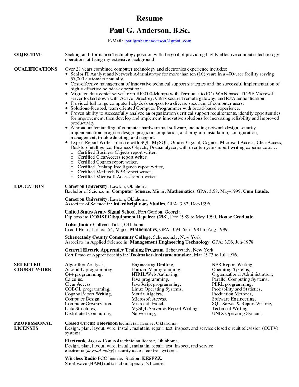 Resume Writers In Maryland