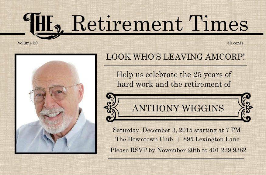 Retirement Flyer Template