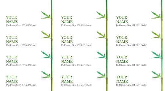 Return Address Label Template Word