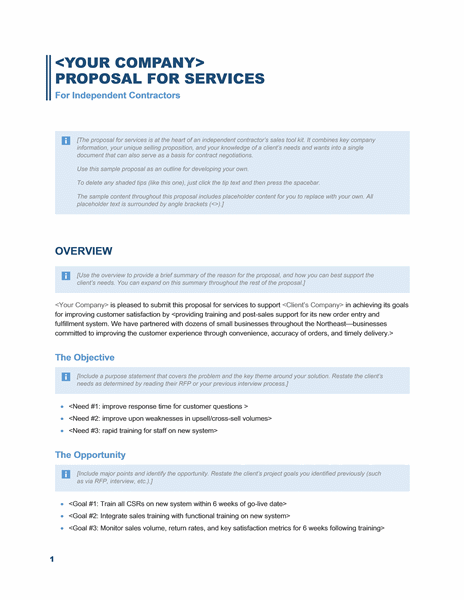 Sales Proposal Template Word