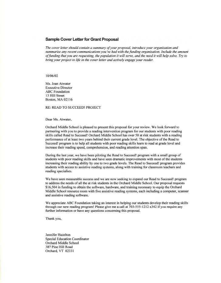 Sample Cover Letter For A Grant Proposal Fresh Proposal Cover Letter Download By Tablet Desktop Original Size Back