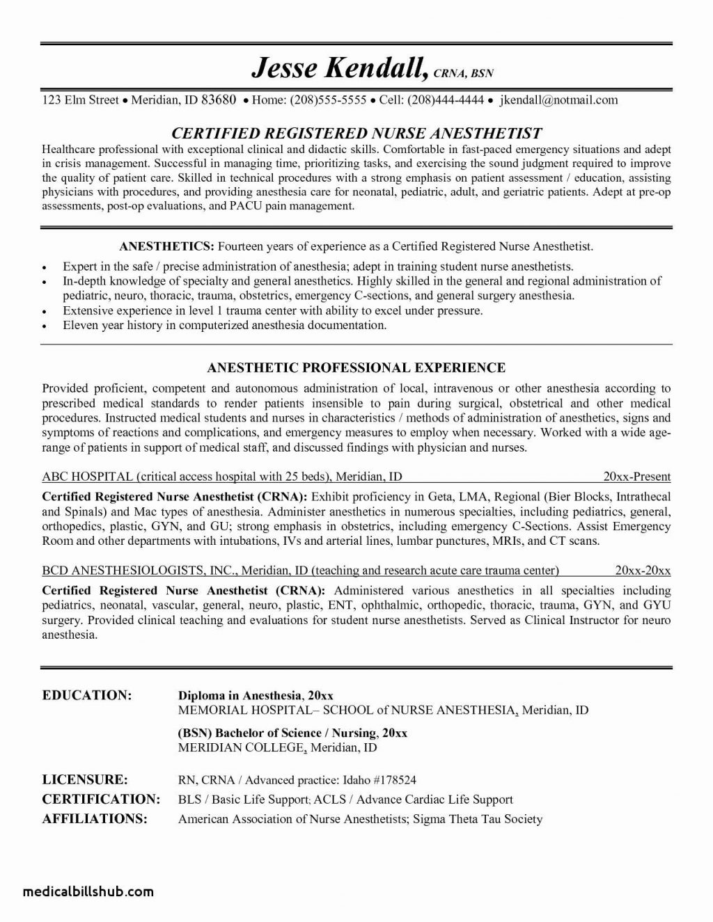 Sample Resume For Rn New Grad