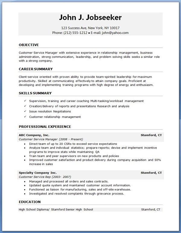 Sample Resume Free Download
