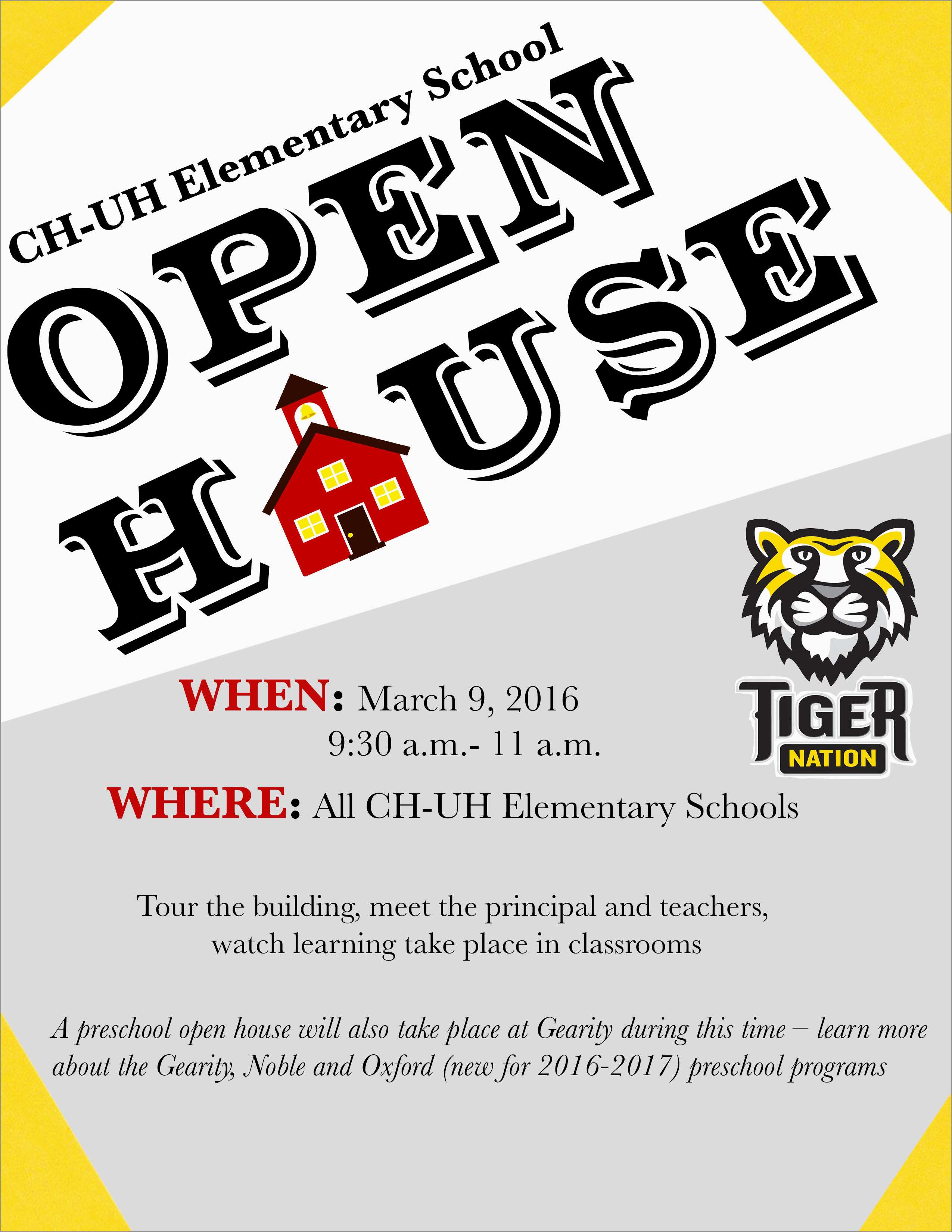 School Open House Flyer Template Free Fresh School Open House Flyer 28 Images Westside High School