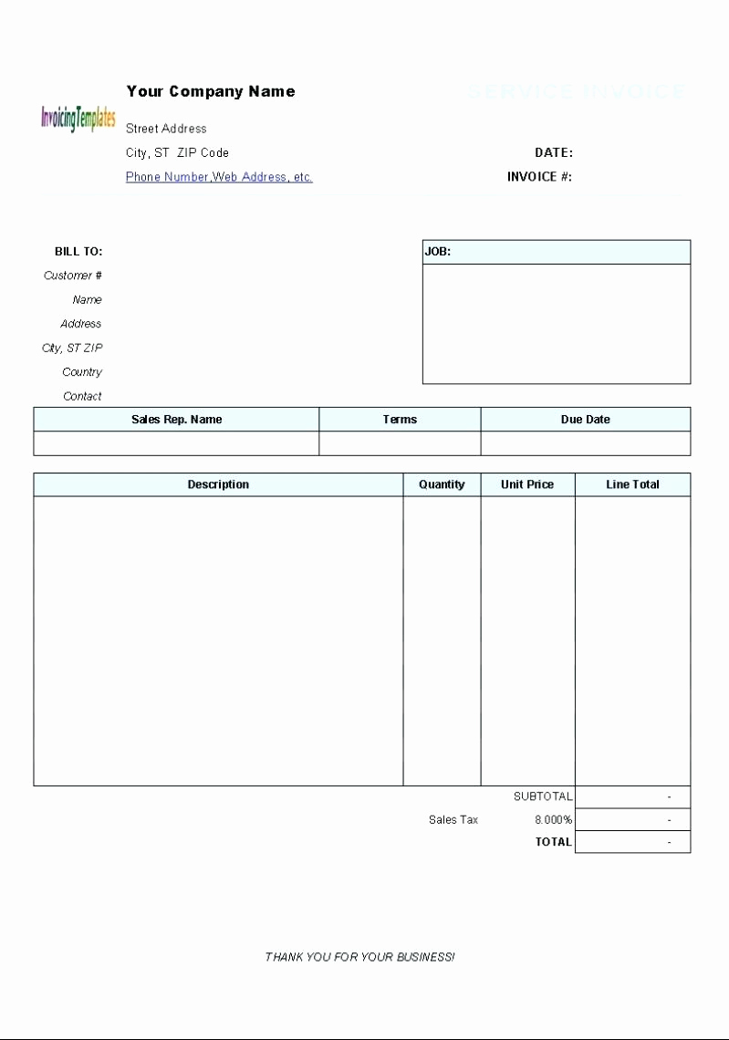 Invoice Template Uk Word Free Templates