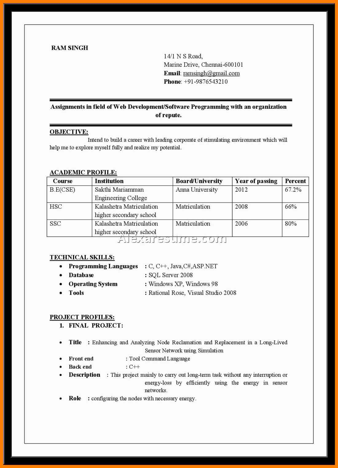 Model Resume In Word Format North.fourthwall.co Throughout Simple Resume Format For Freshers In Ms Word