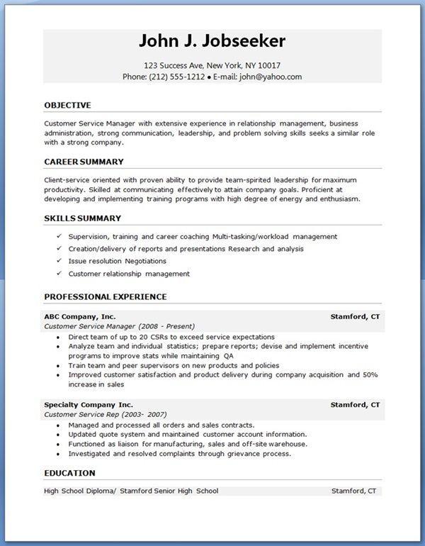 Simple Resume Format Pdf Free Download