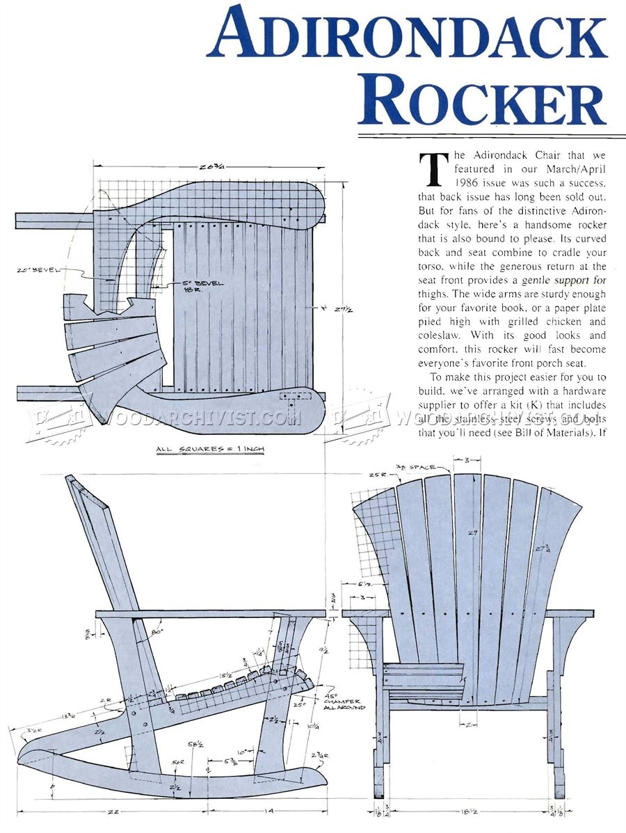 Template Printable Adirondack Chair Plans