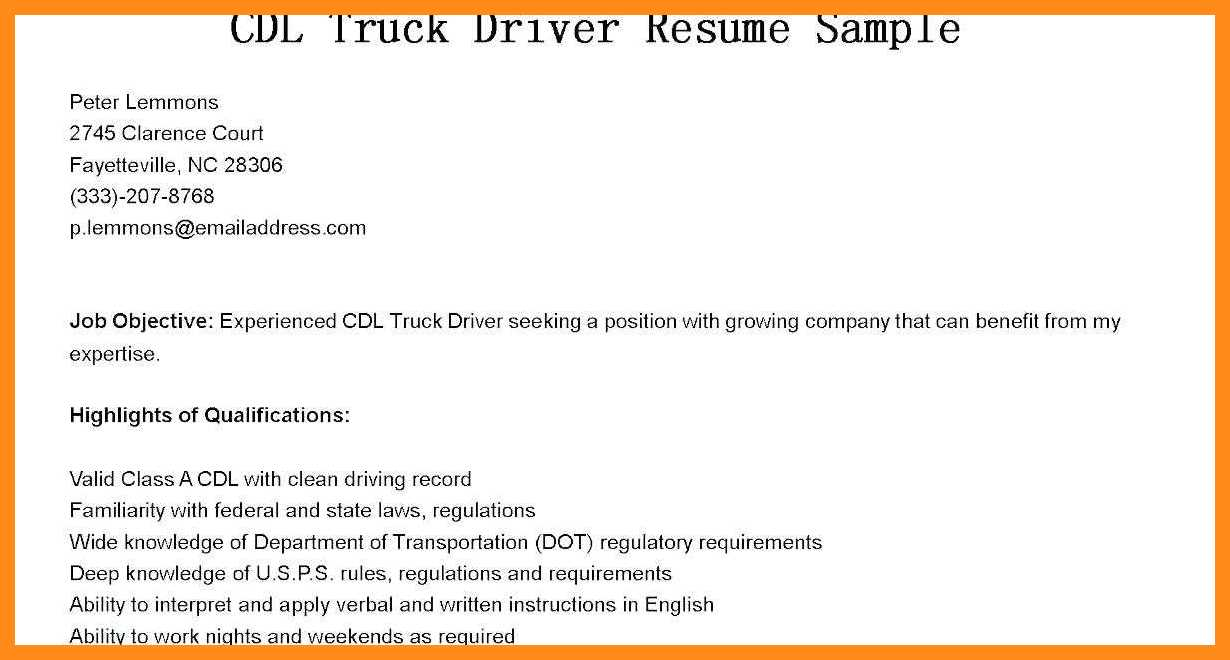 Truck Driver Skills Resume Lovely Driver Sample Resume Doc Truck Driver Sample Resume Truck Driver