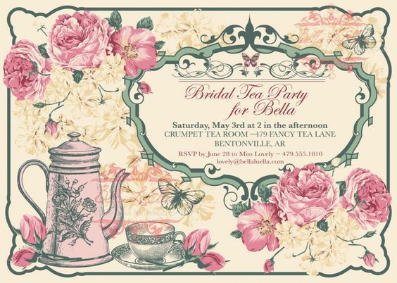 Victorian Tea Party Invitation Template