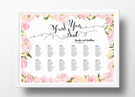 Free Printable Wedding Seating Chart Template And Wedding Seating Chart Poster Template Wedding Table Plan