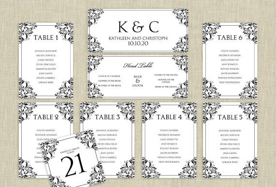 Wedding Seating Chart Template Microsoft Word