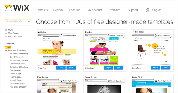 Wix Website Templates Free