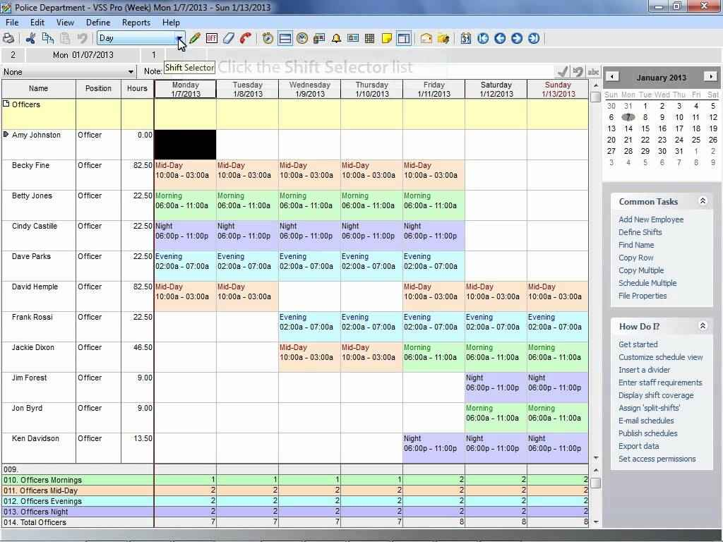 24 7 Shift Schedule Template