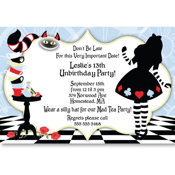 Alice In Wonderland Invitation Template
